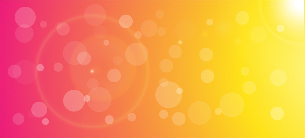 Abstract Bright Blur Bubbles Background