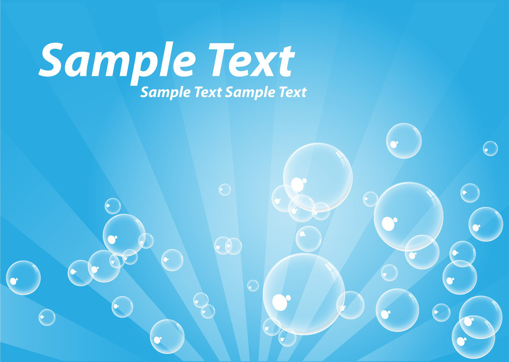 Abstract Bubbles Backdrop