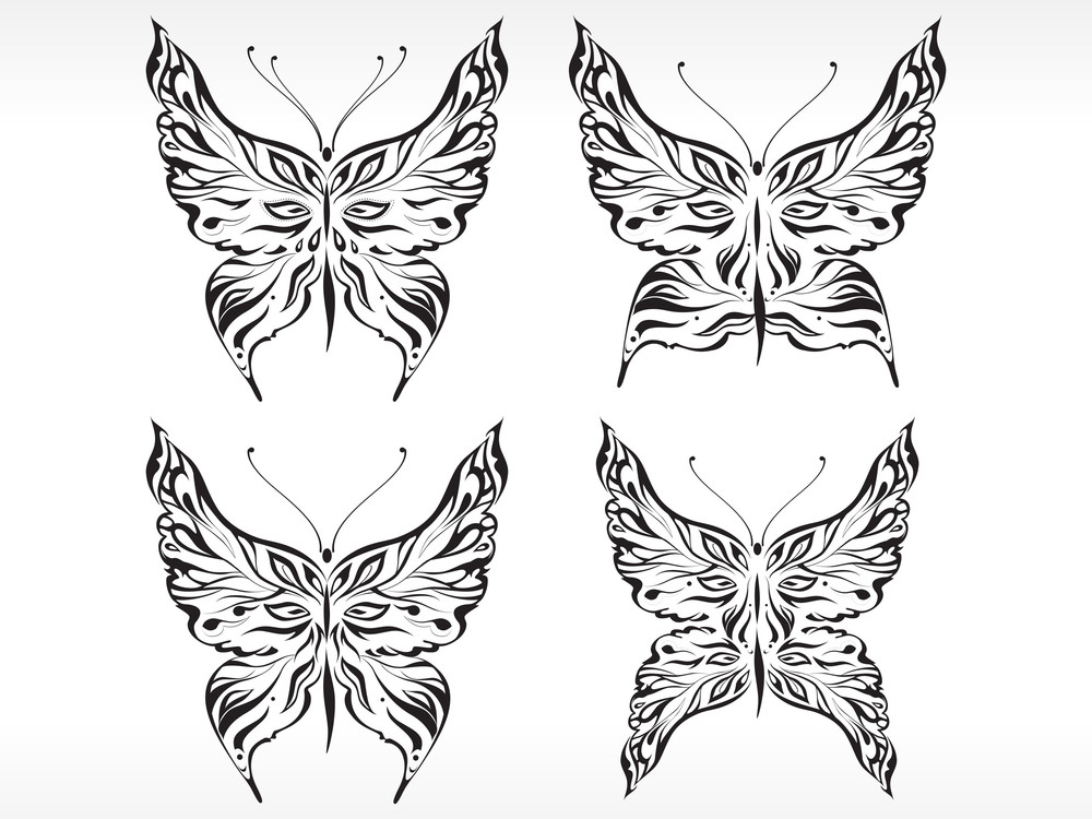 Abstract Butterfly Emblem