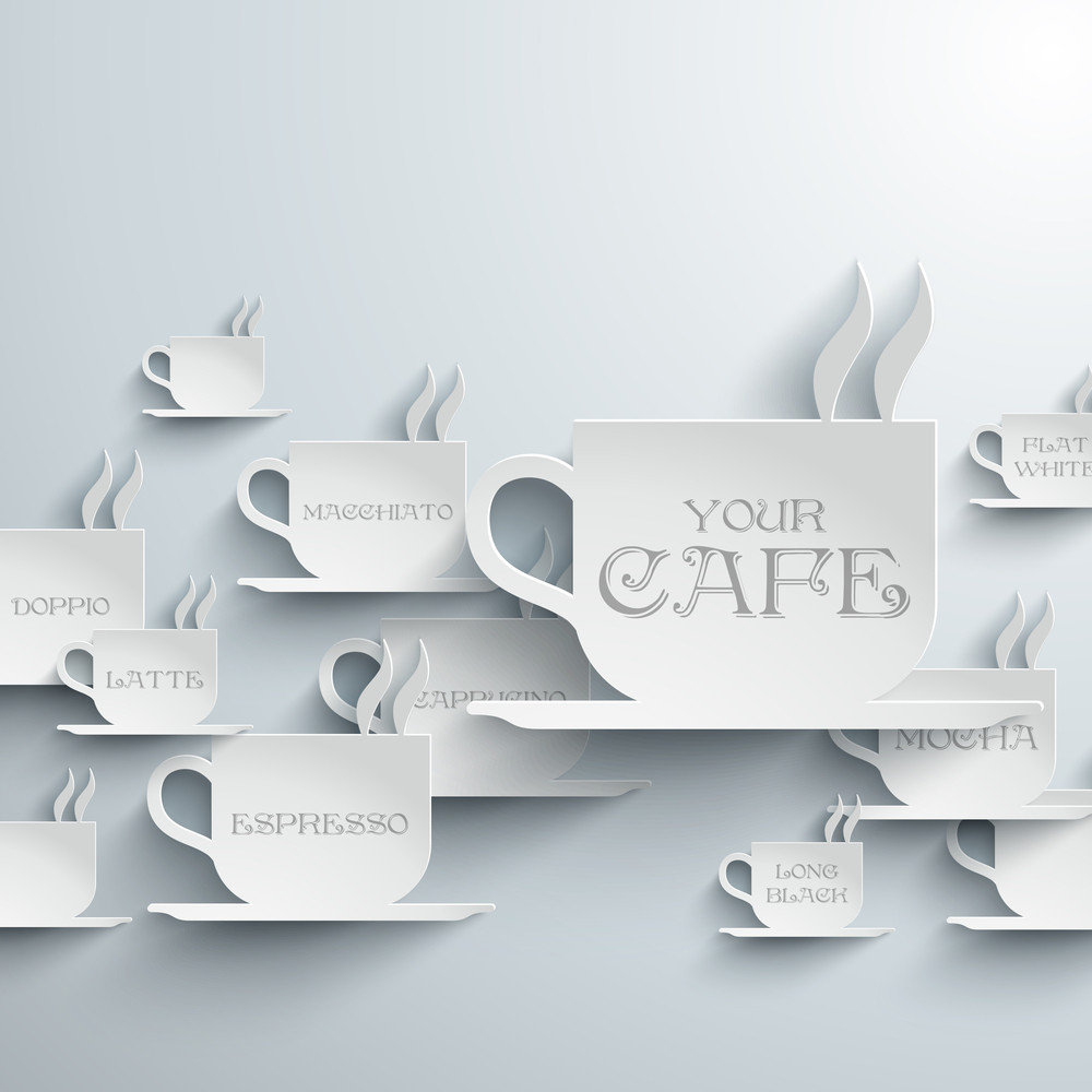 Abstract Cafe Paper Graphics