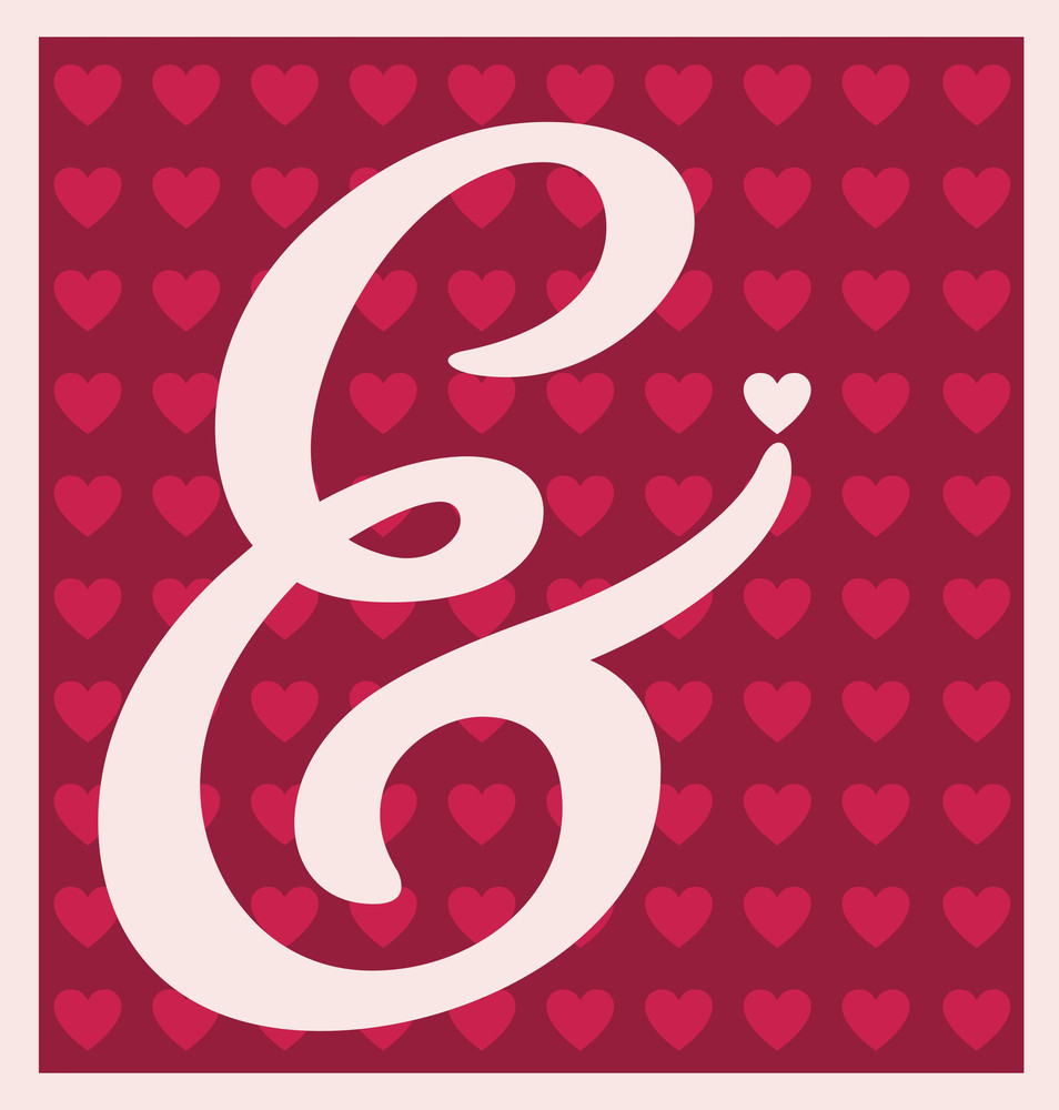 Abstract Calligraphic Valentines Design Template