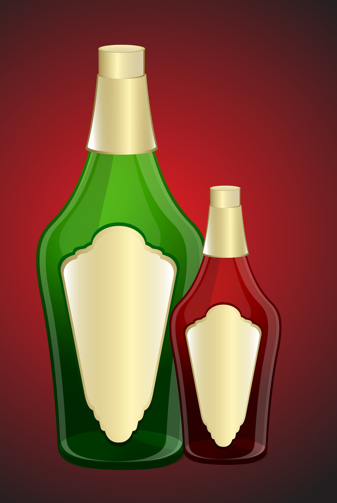 Abstract Champaign Bottles Designs