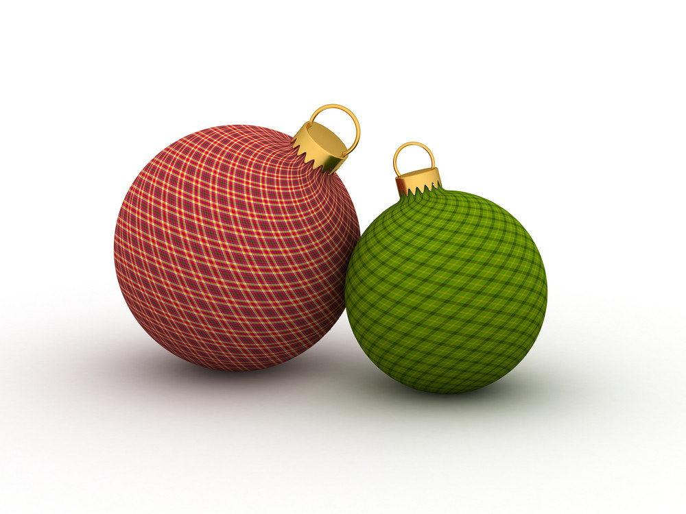 Abstract Christmas Balls