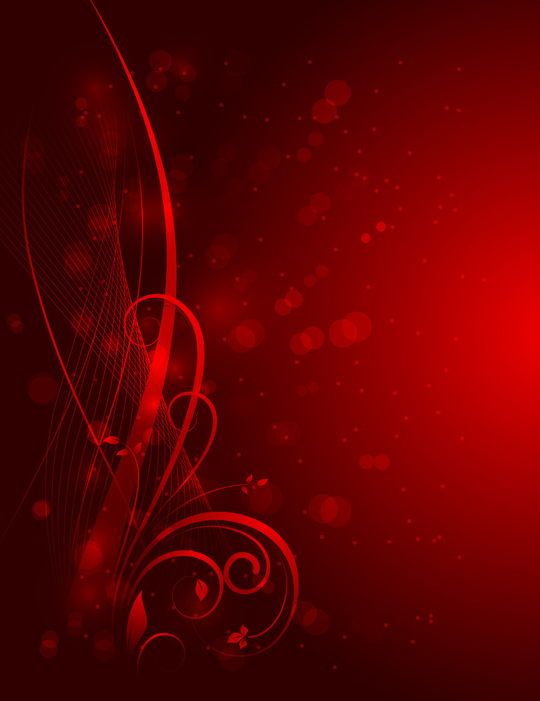 Abstract Christmas Flora Background
