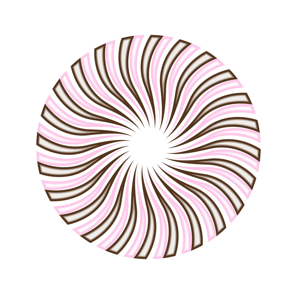 Abstract Circular Sunburst