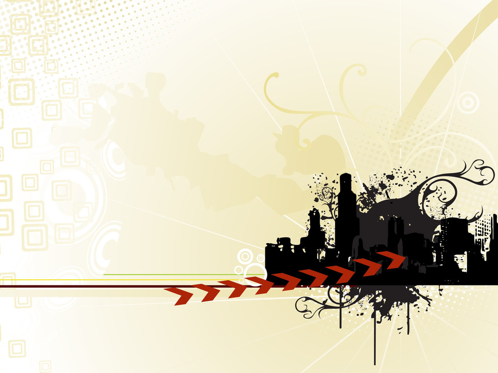 Abstract City On A Texture Background