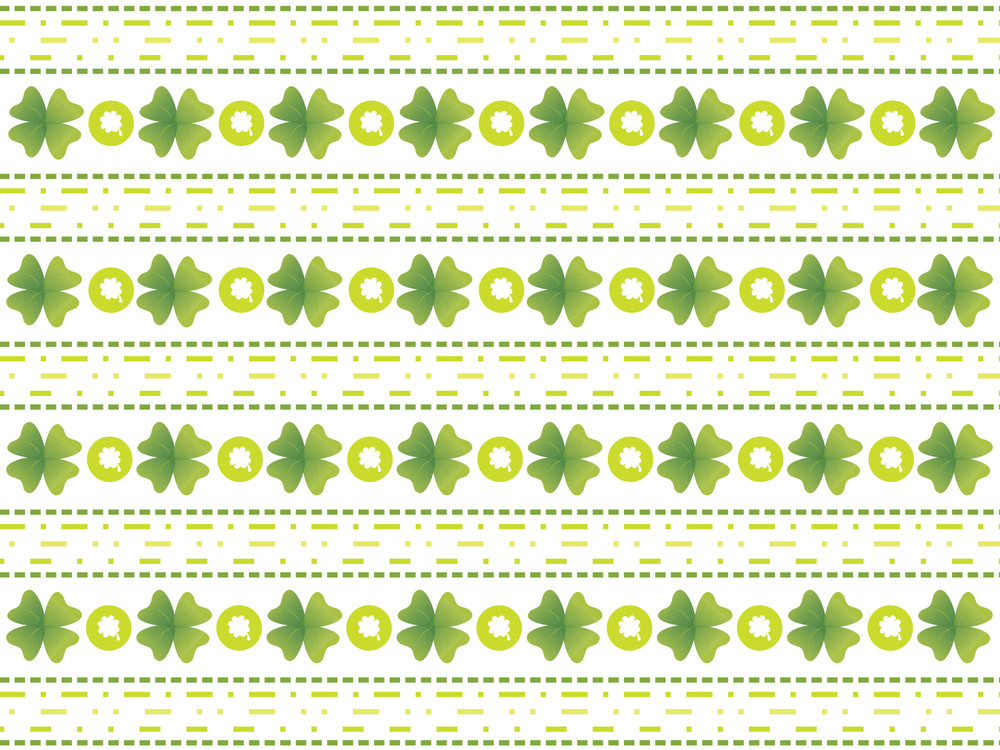 Abstract Clover Flower Background 17 March