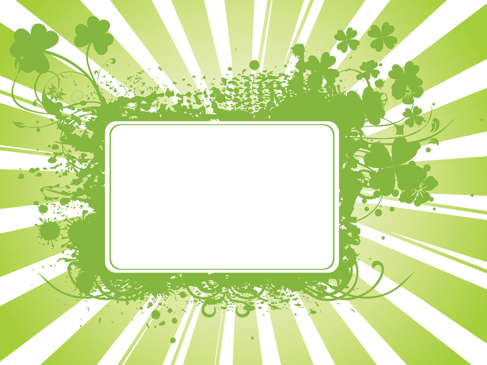 Abstract Clover Frame Illustration