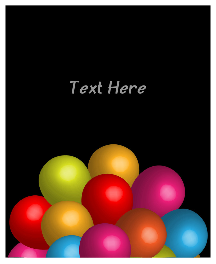 Abstract Colored Balloons Birthday Card