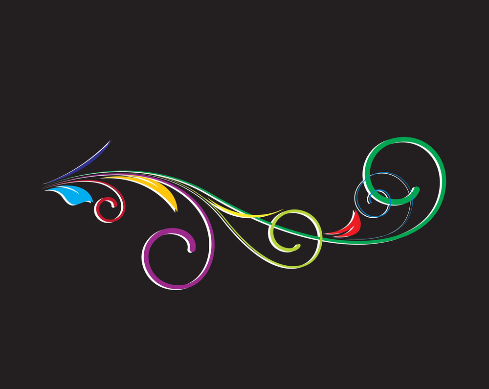 Abstract Colored Design Flourish