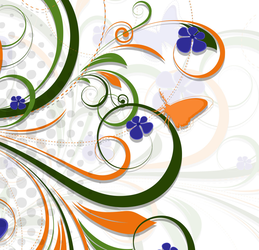 Abstract Colored Flourish Background