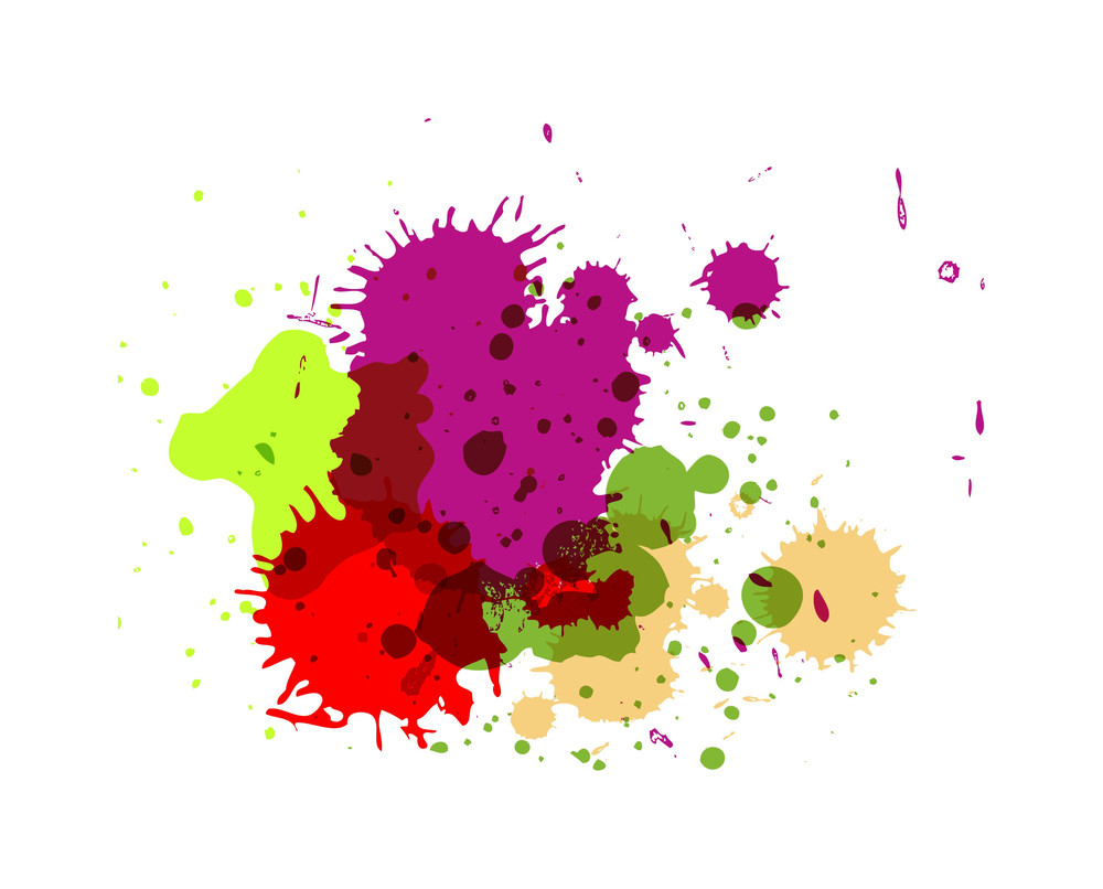 Abstract Colored Paint Drops