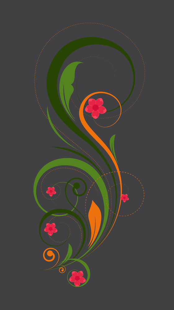 Abstract Colorful Decorative Floral Art