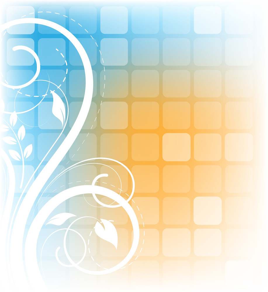 Abstract Colorful Decorative Flourish Background