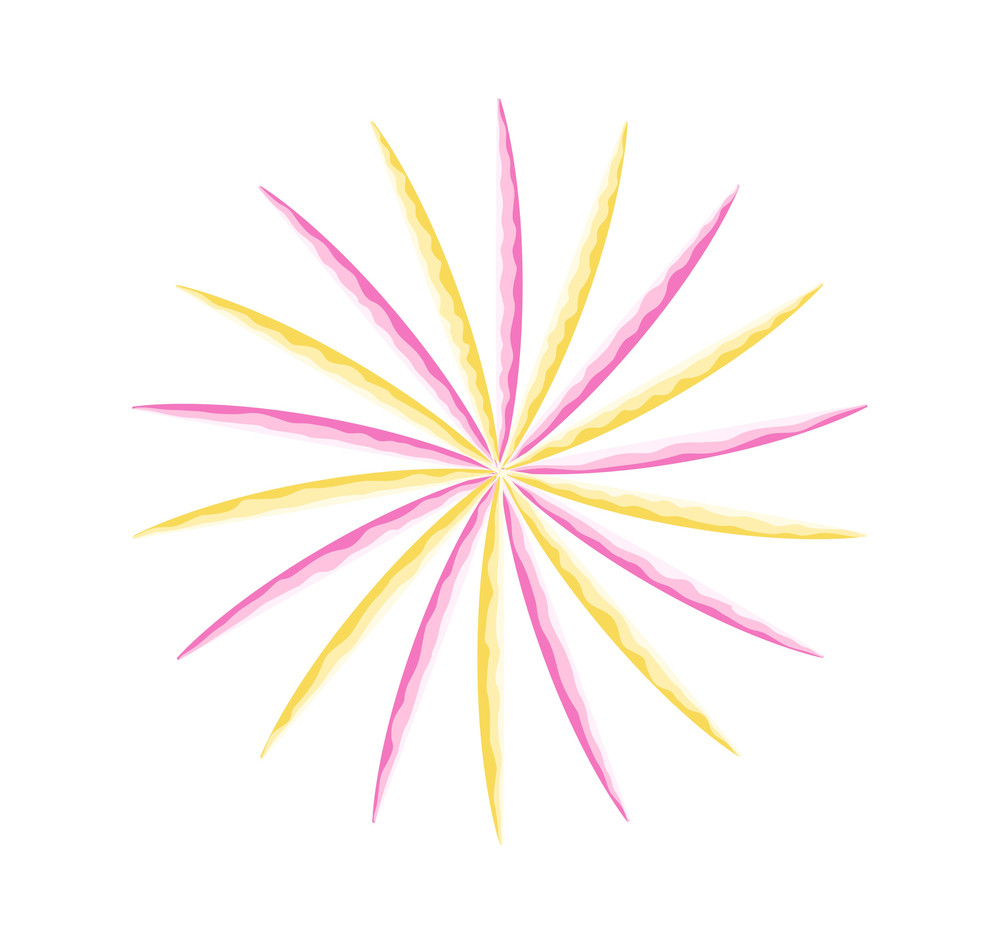 Abstract Colorful Floral Sunburst