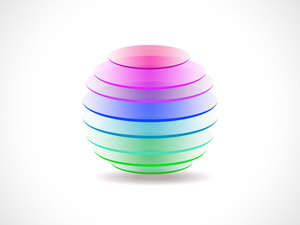 Abstract Colorful Globe Icon.