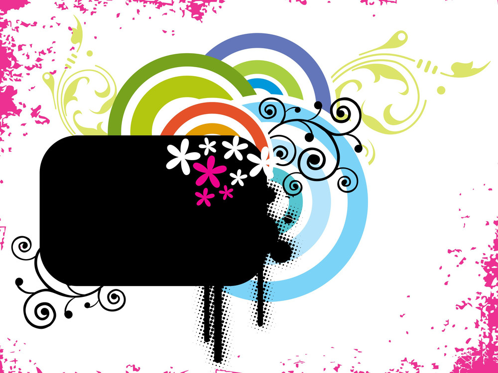Abstract Colorful Pattern Banner Illustration