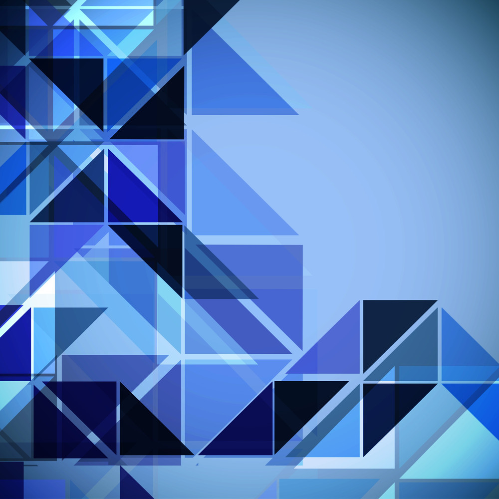Abstract Composition With 3 D Cubes On Blue Background