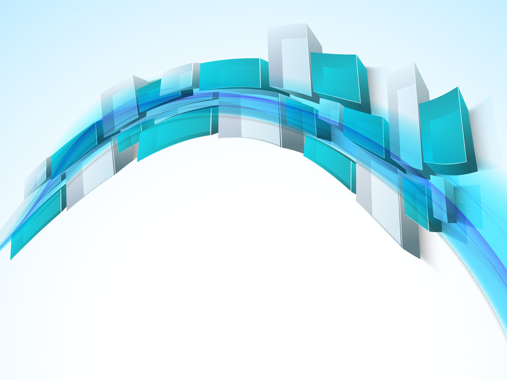 Abstract Composition With 3d Cubes And Space For Your Text