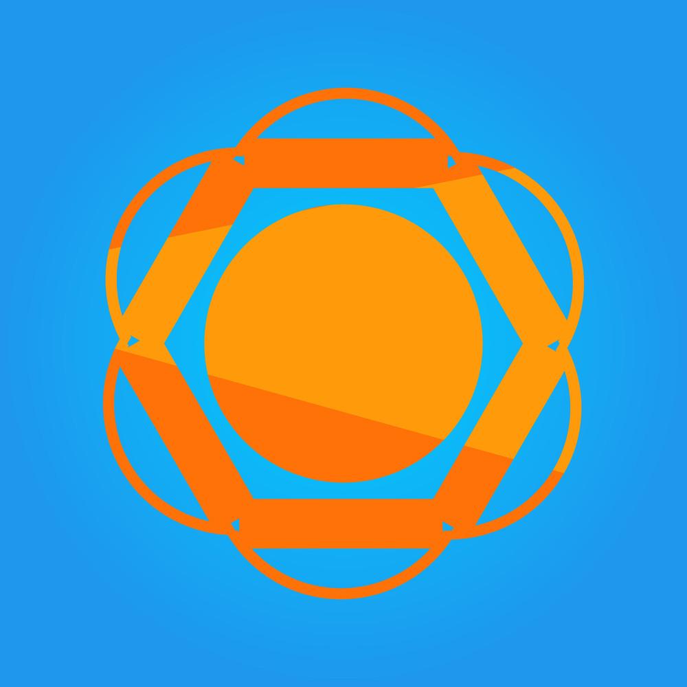 Abstract Creative Design Vector Sun Icon