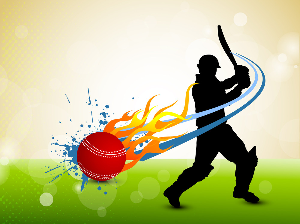 Invitation For Corporate Cricket Tournament: Abstract Cricket Background Royalty-Free Stock Image