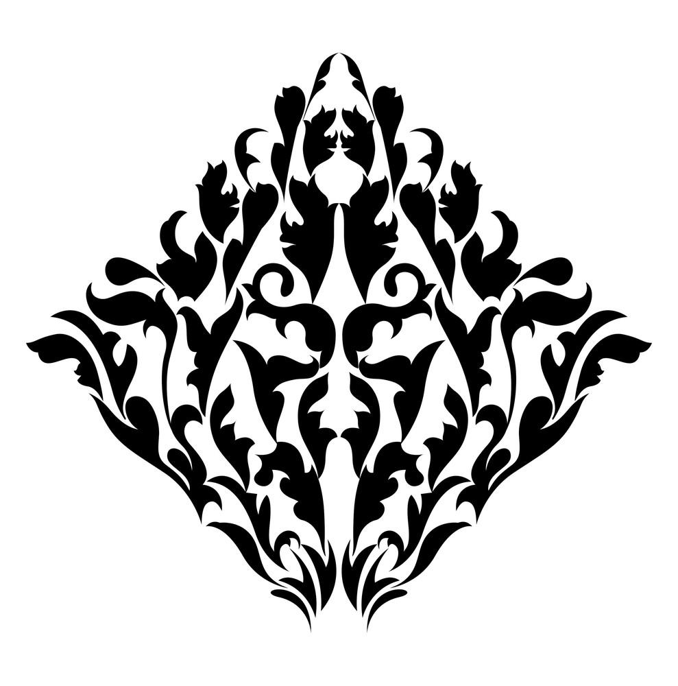 Abstract Damask Floral