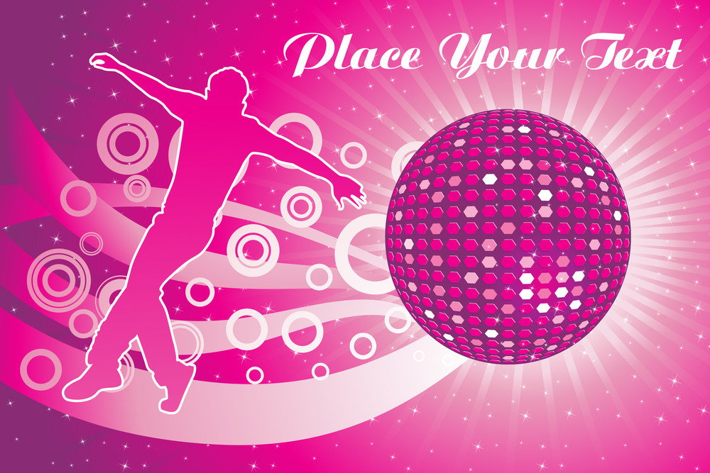 Abstract Dance Party Background