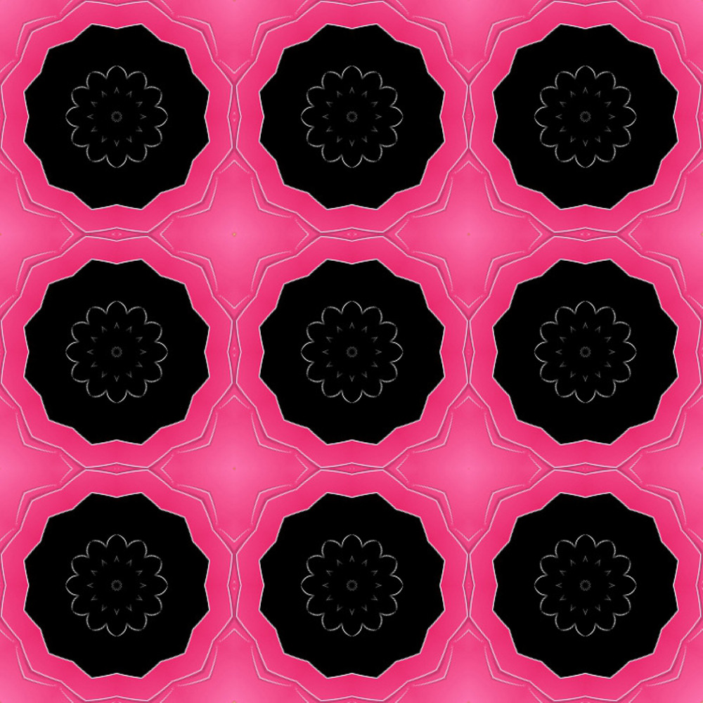 Abstract Dark Floral Pattern