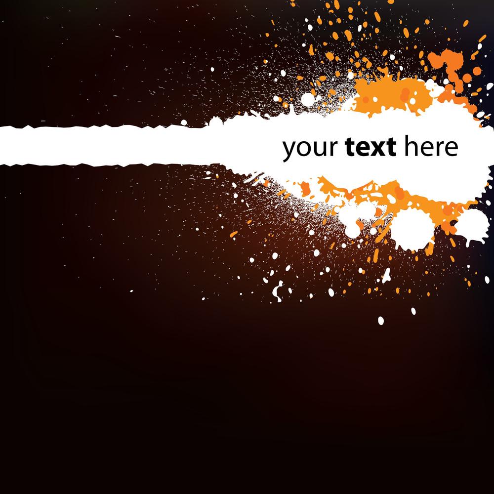 Abstract Dark Orange Background With Splatters