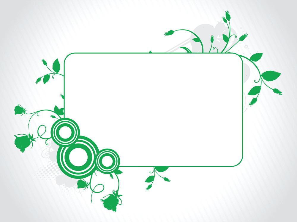 Abstract Decorative Floral Frame Design11