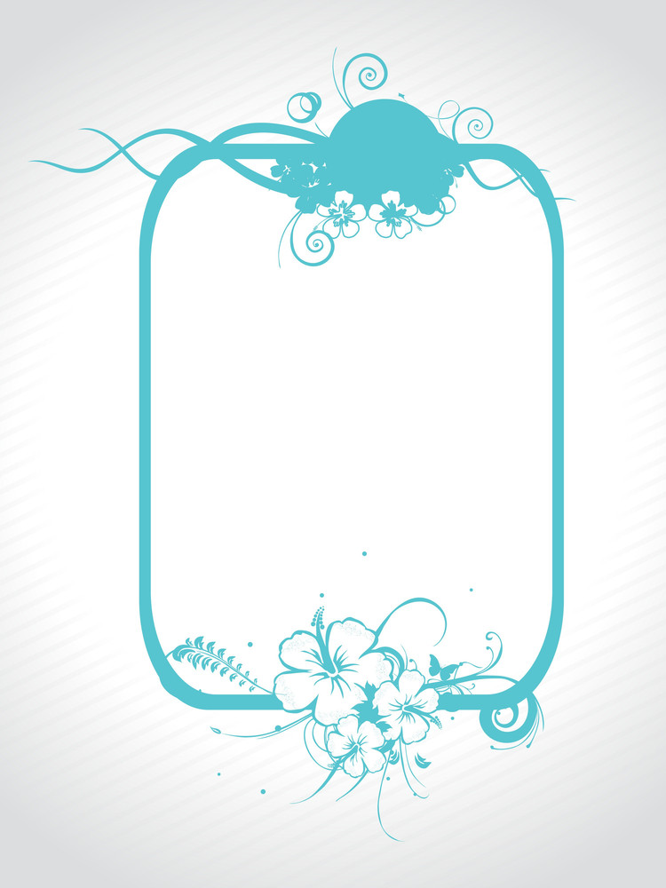 Abstract Decorative Floral Frame Design16