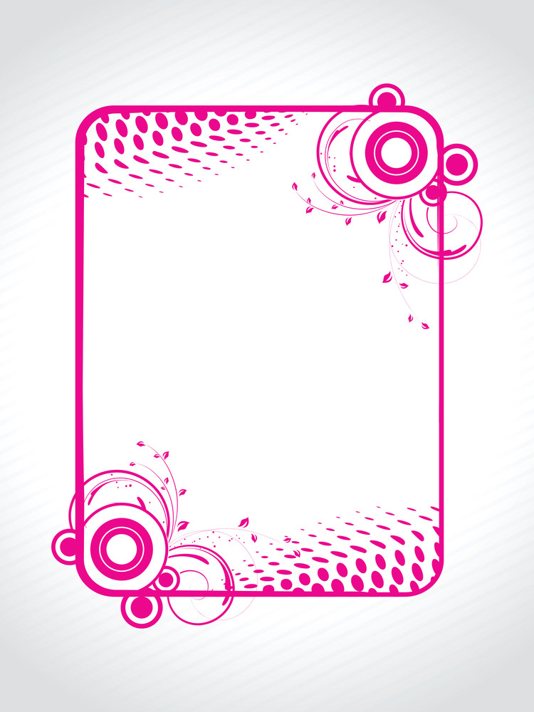Abstract Decorative Floral Frame Design4