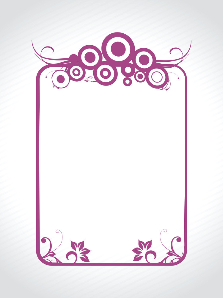Abstract Decorative Floral Frame Design6