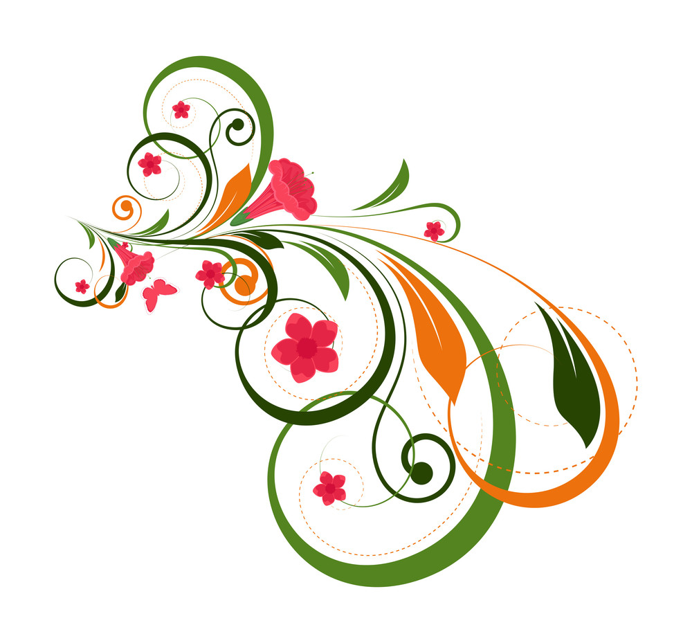 Abstract Decorative Flourish Design Art