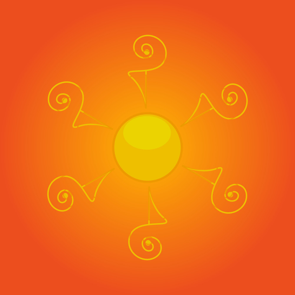 Abstract Decorative Sun Icon