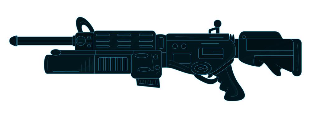 Abstract Design Artistic Shooting Gun