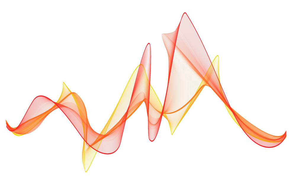 Abstract Design Blend Vector Lines