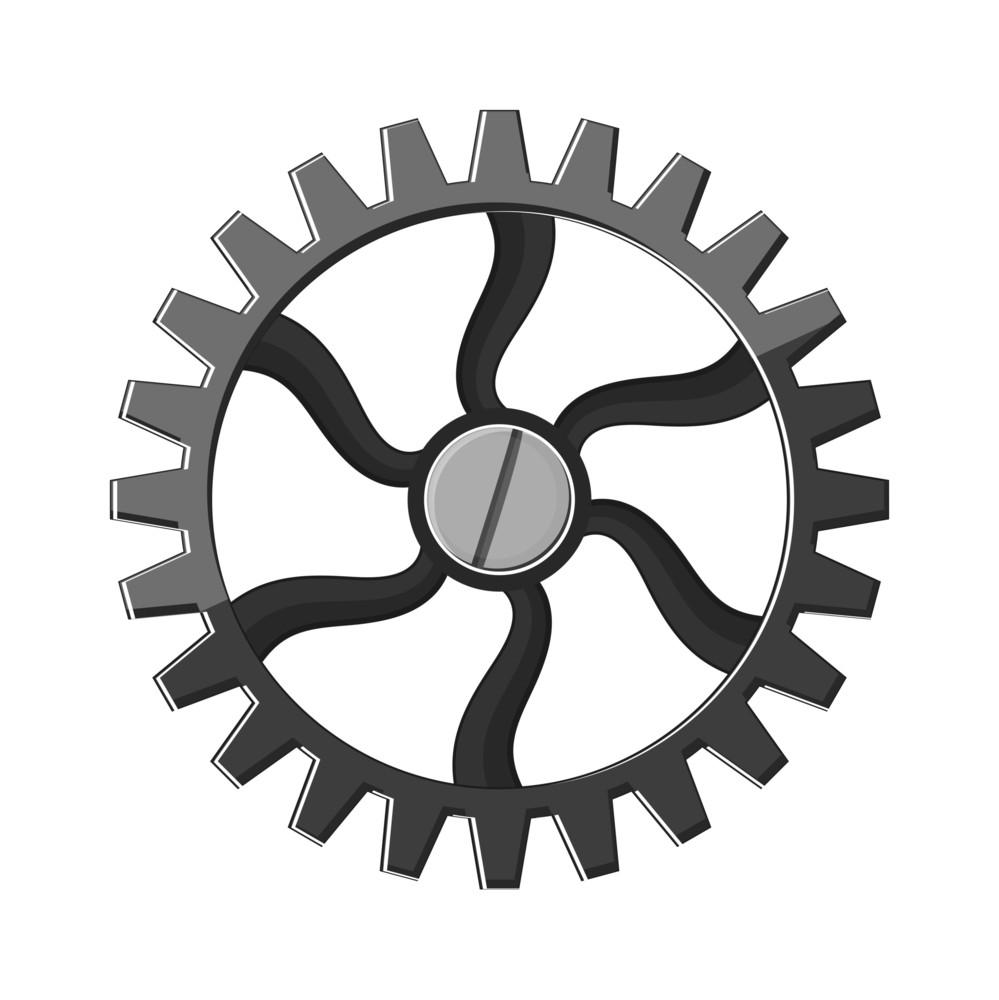 Abstract Design Gear Wheel