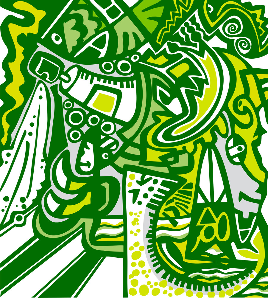 Abstract Design In Graffiti Style