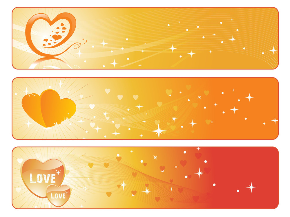 Abstract Design Love Banner