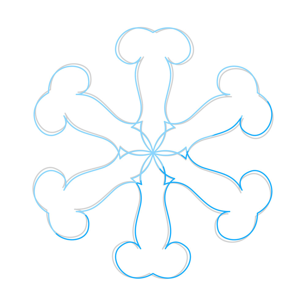 Abstract Design Snowflake