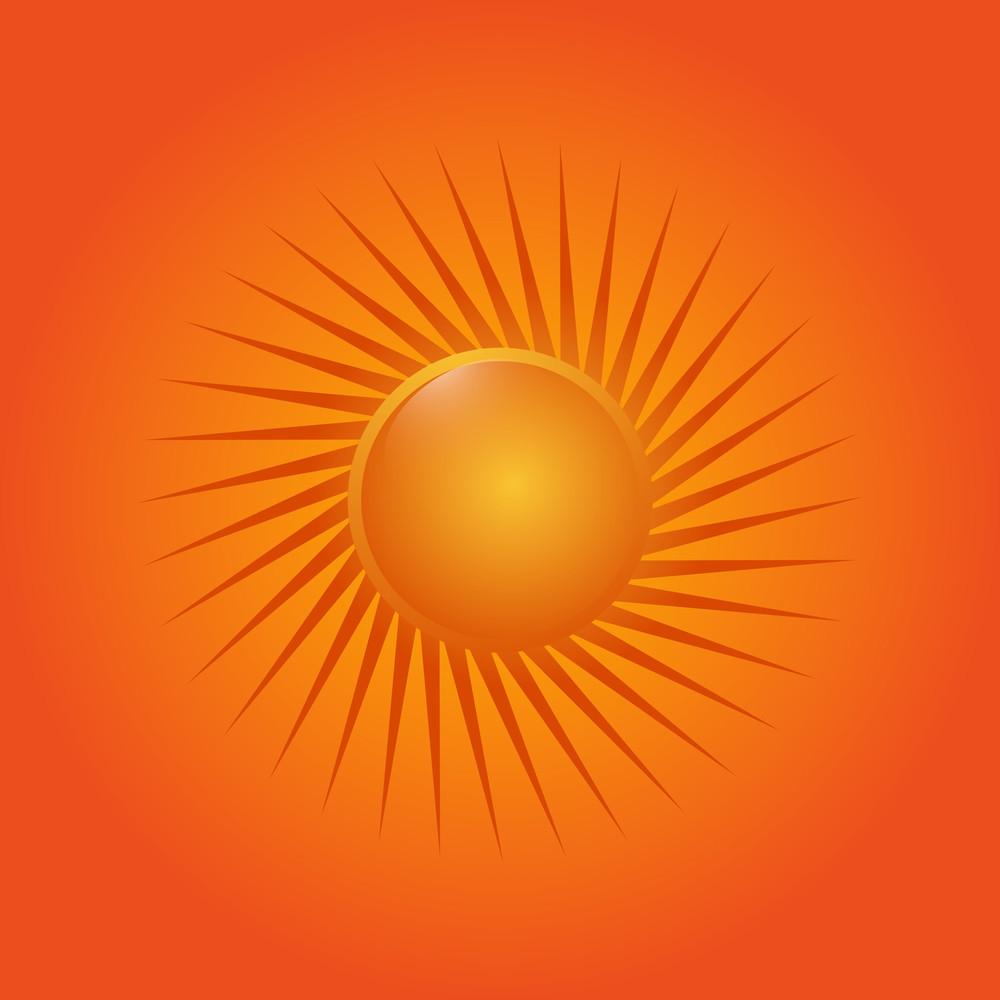 Abstract Design Sun Icon