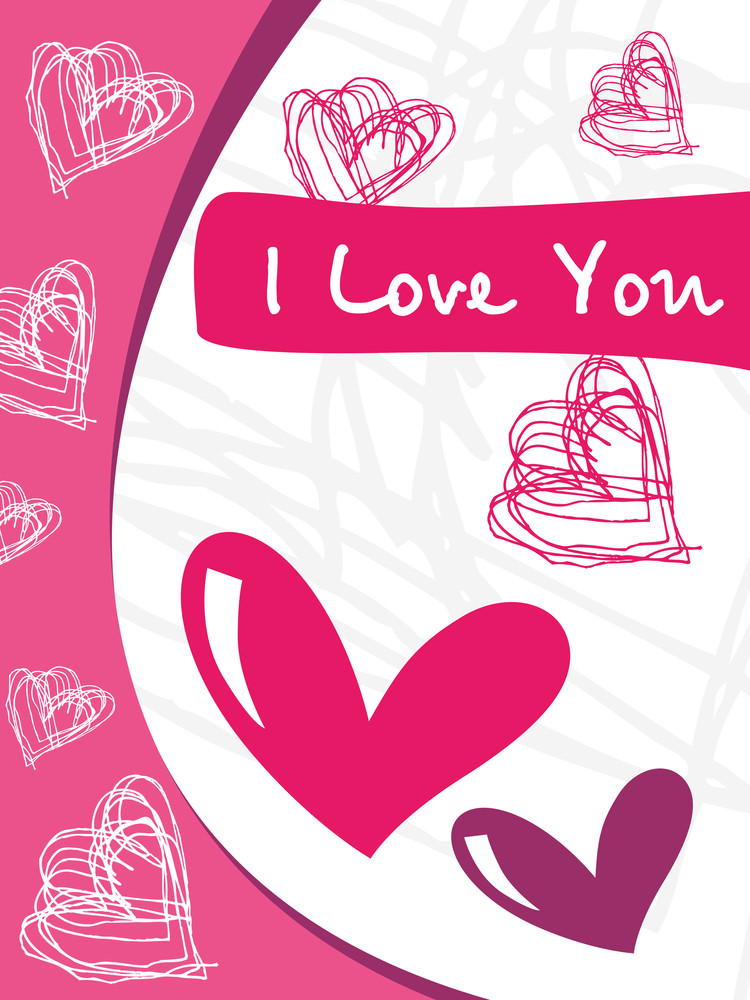 Abstract Design Vetor Love Card