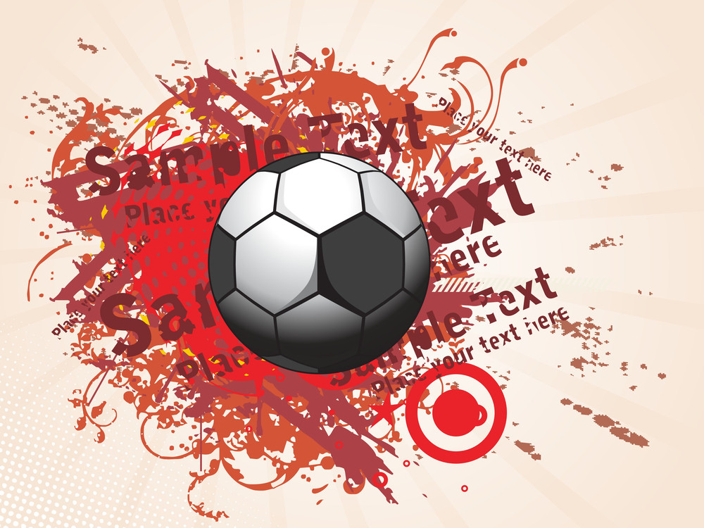 Abstract Dirty Background With Soccer
