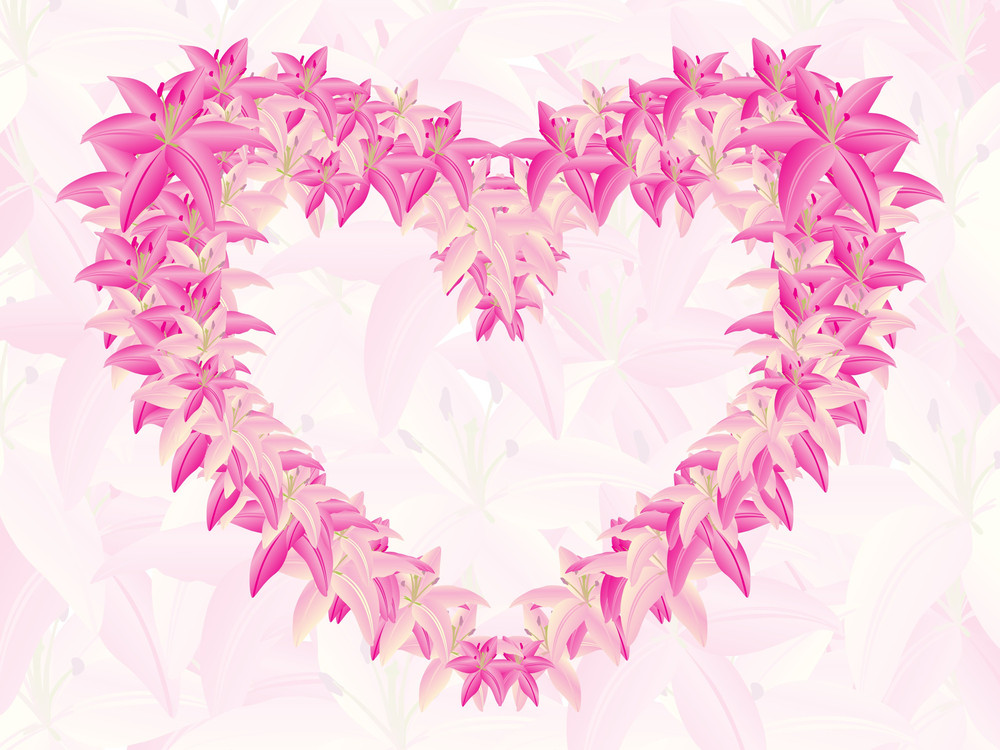 Abstract-docorated Heart Shape With Text