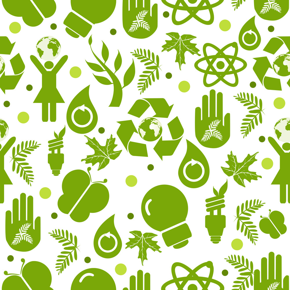 Abstract Eco Seamless Pattern. Vector