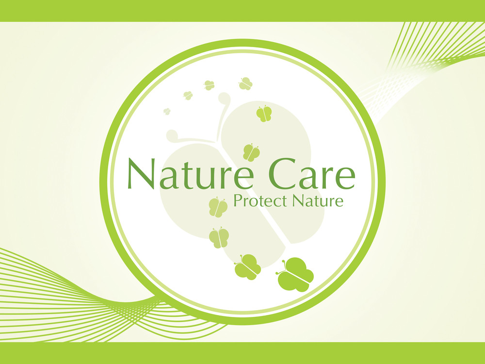 Abstract Ecology Icons Series On Wavy Background_2
