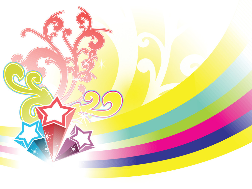 Abstract Element For Fireworks Background
