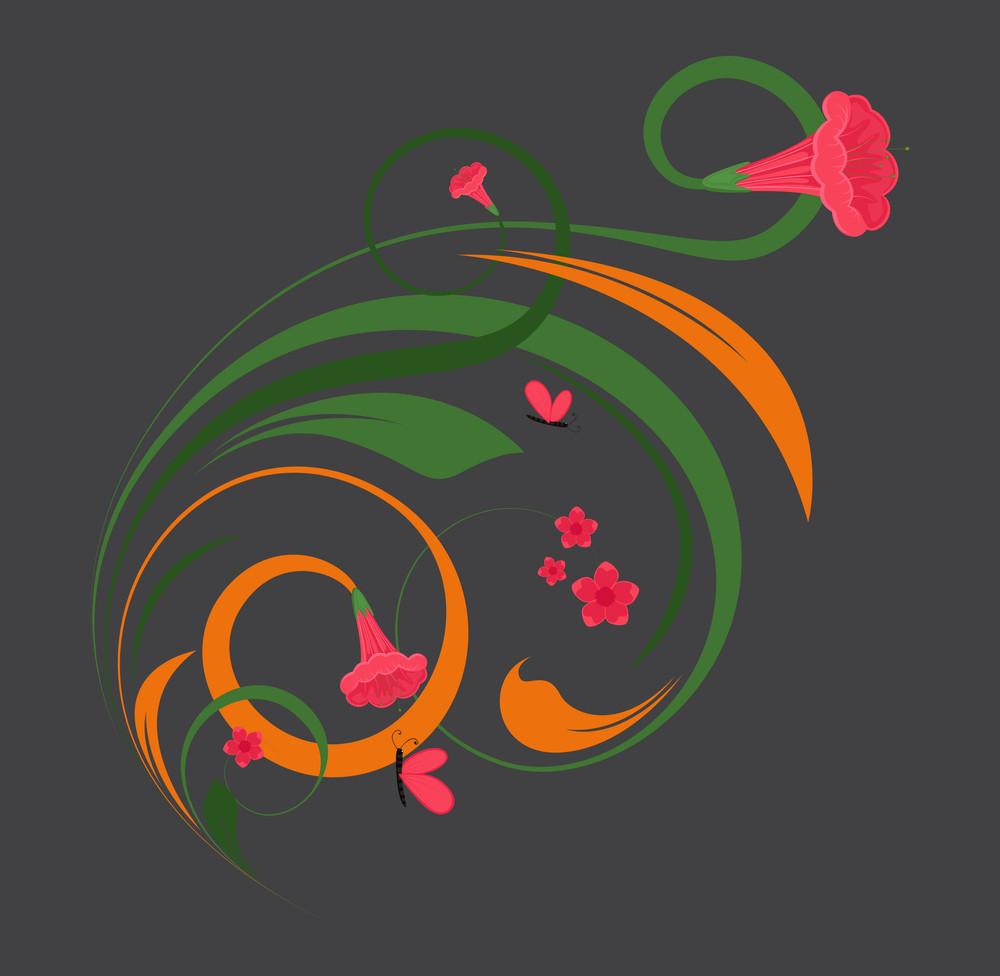 Abstract Flora Decorative Design