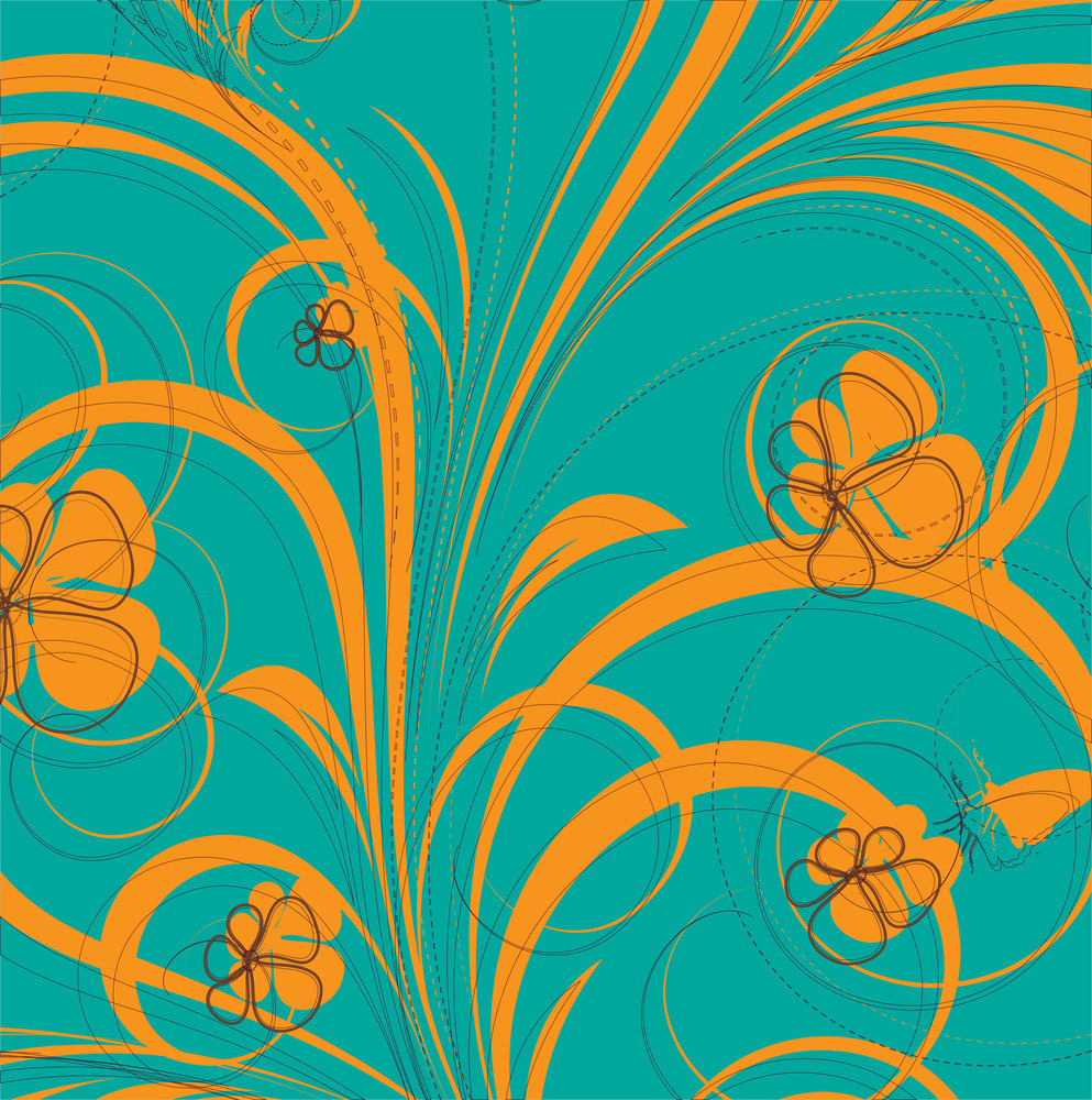 Abstract Flora Design Background